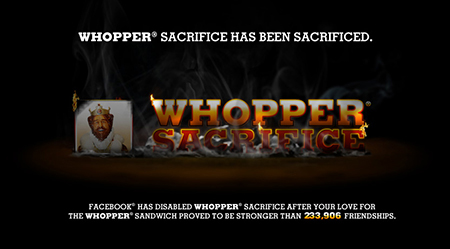 Whopper Sacrifice